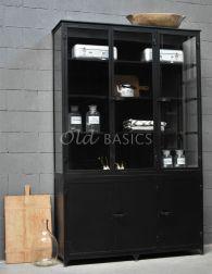 Zwarte Kast Met Glas.Industriele Kasten Old Basics