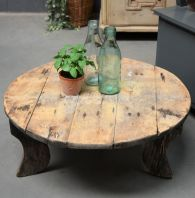 Brocante Salontafel Rond.Brocante Salontafel Old Basics