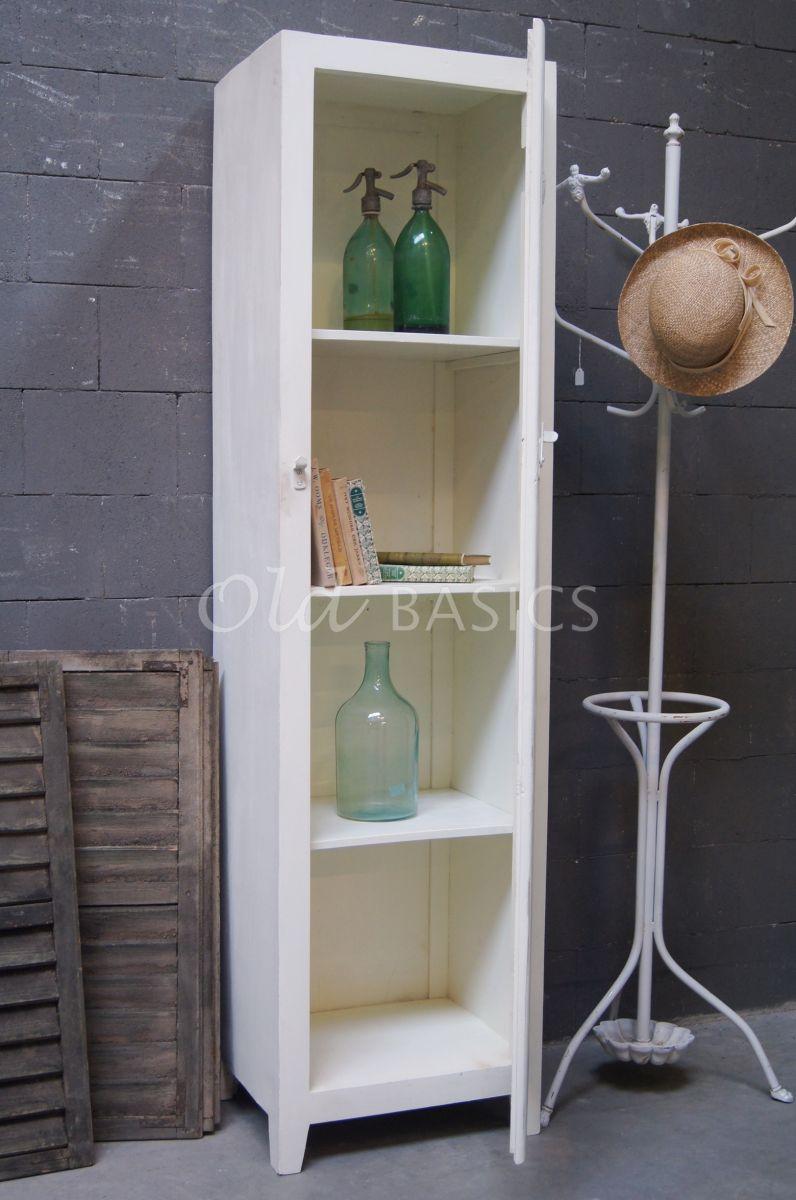 Detail van Lockerkast Isac  Wit, wit, materiaal hout