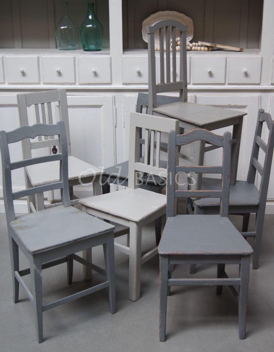 Detail van Houten stoel, grijs, materiaal hout