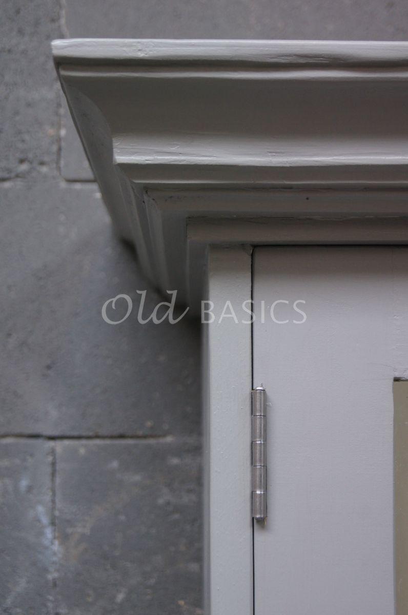 Vitrinekast rustique 1 1506 079 old basics - Balken grijs geschilderd ...