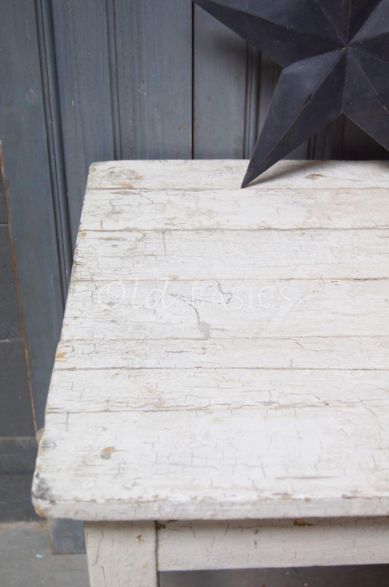 Detail van Bijzettafel, wit, materiaal hout