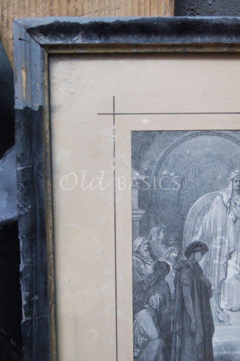 Detail van Schilderij, materiaal hout