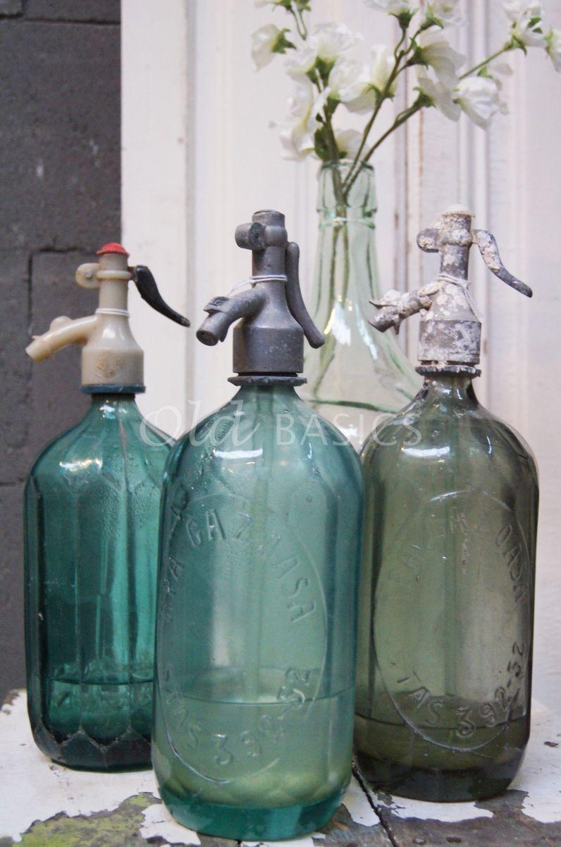 Spuitfles, groen, blauw, materiaal glas