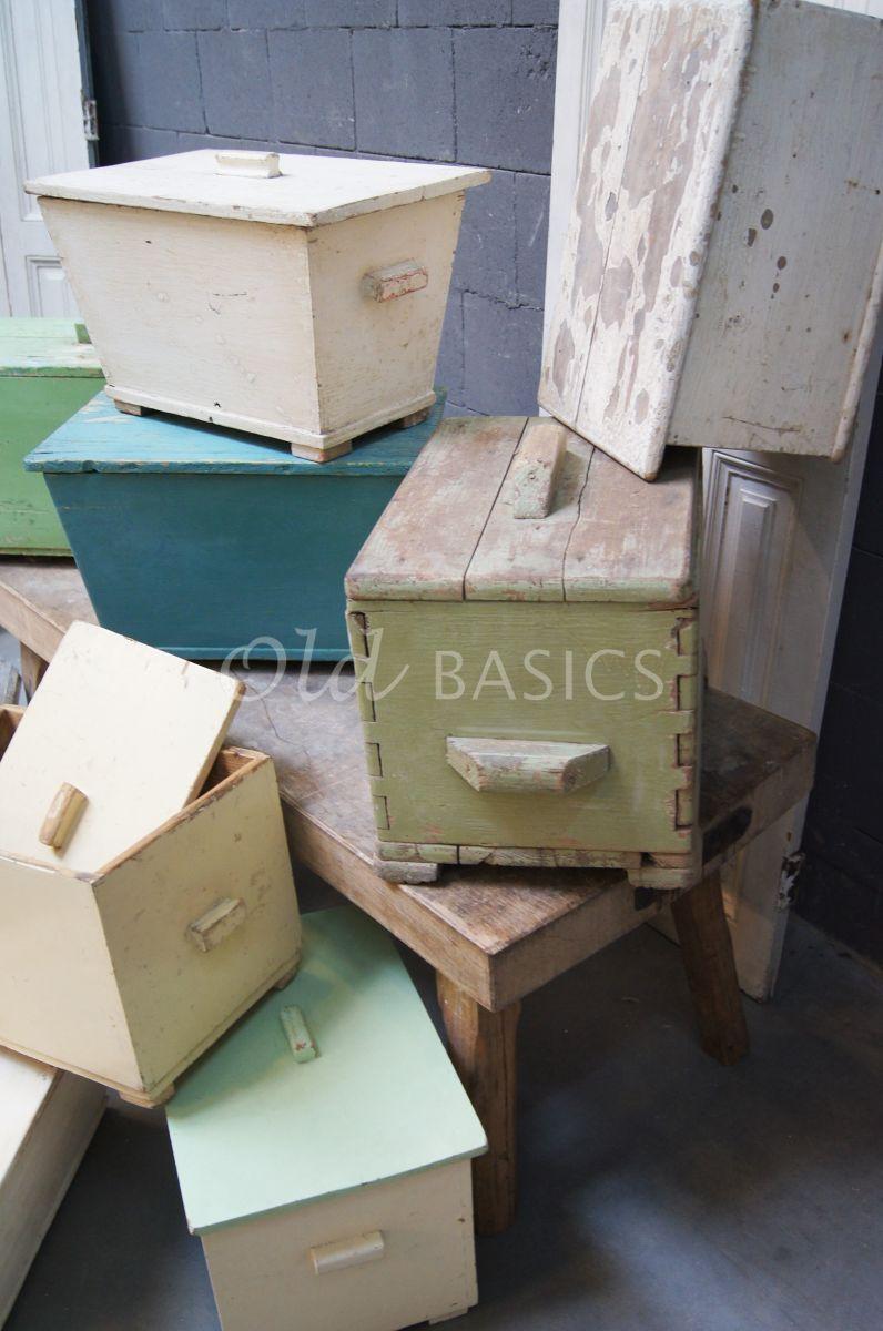 Detail van Kist, materiaal hout