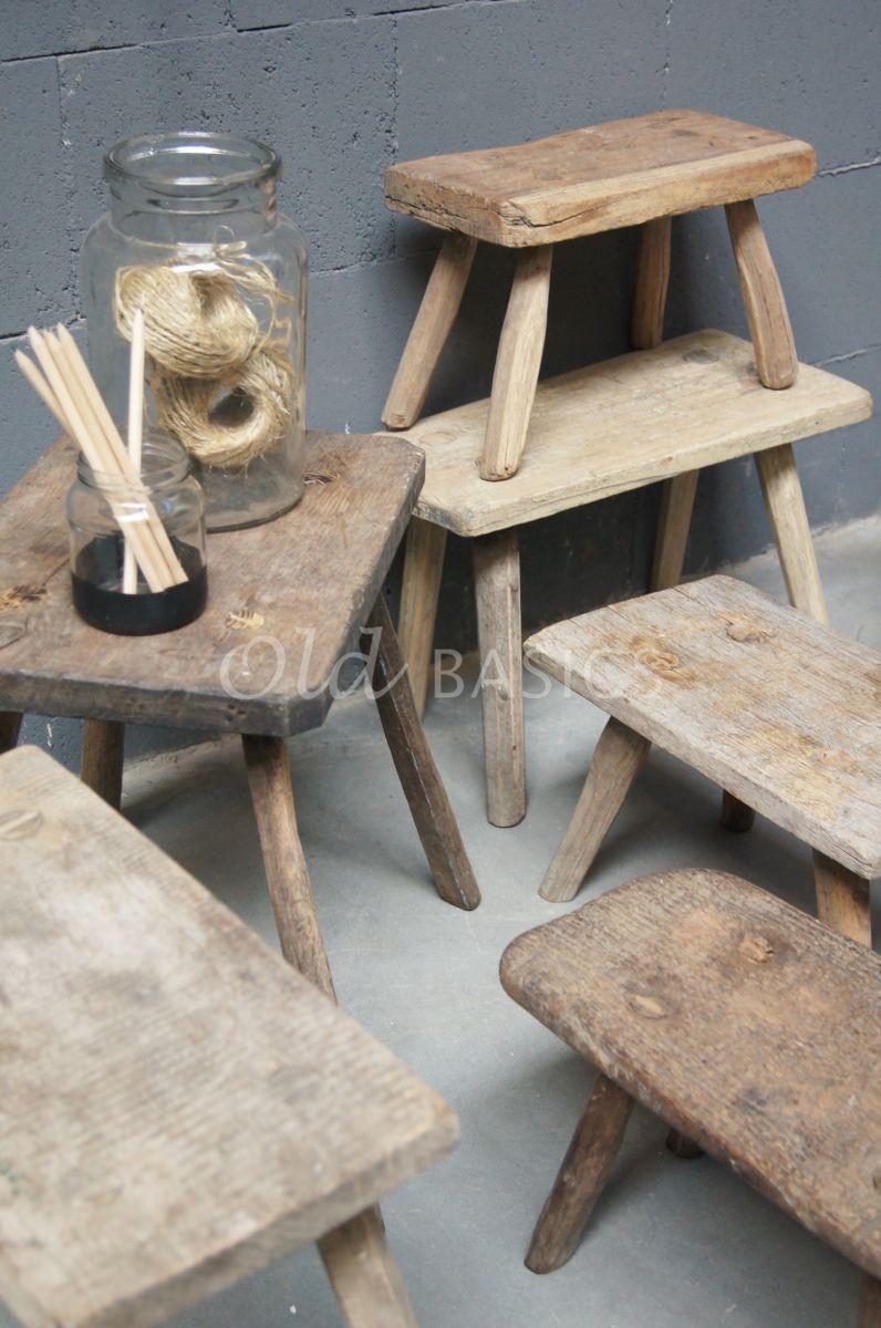 Detail van Krukje, naturel, materiaal hout