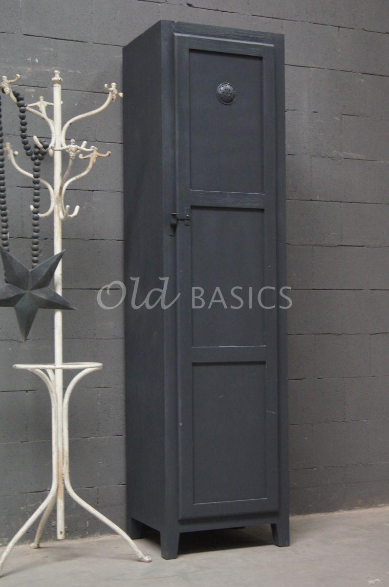 Lockerkast Isac  Donkergrijs, grijs, materiaal hout