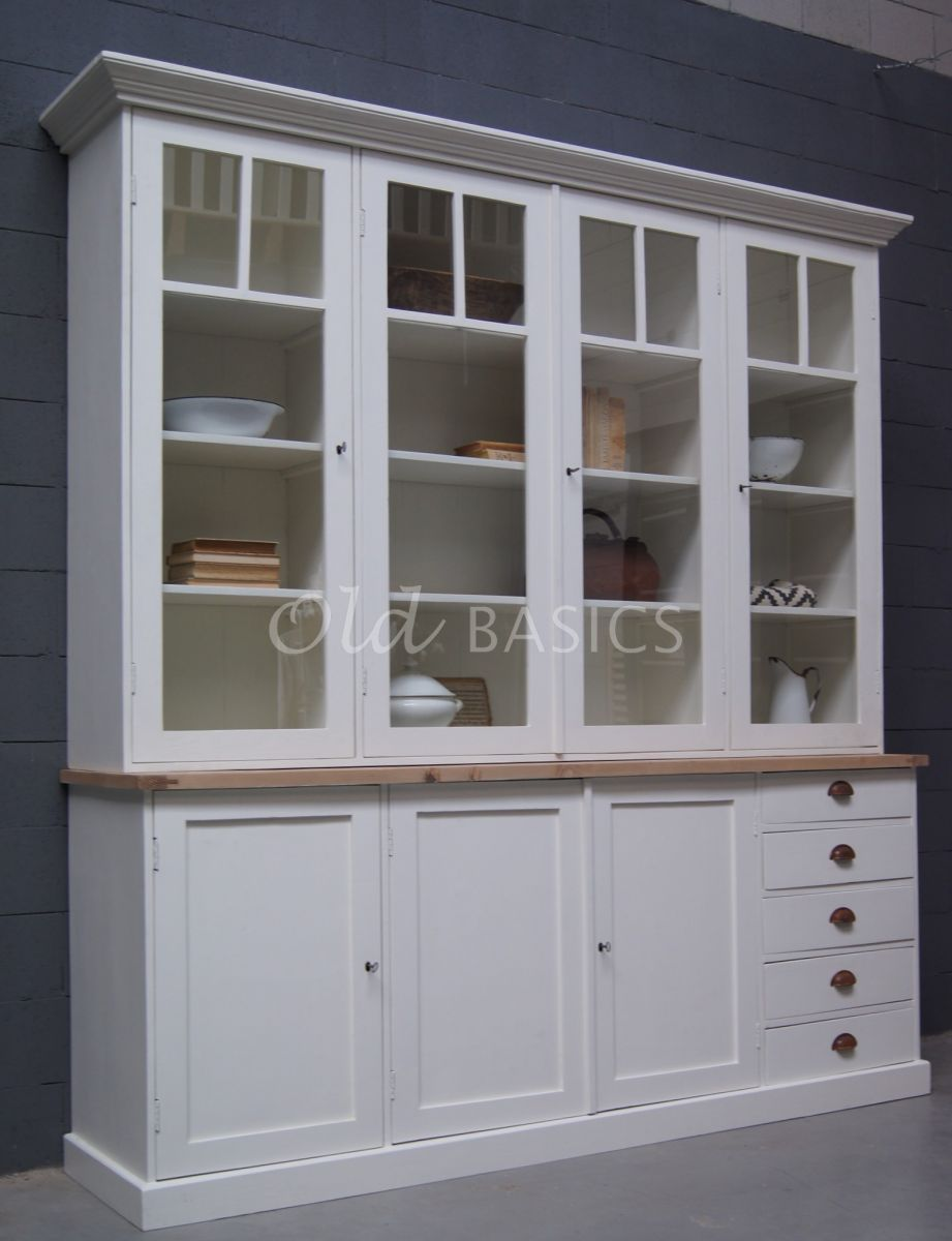 Buffetkast, wit, materiaal hout