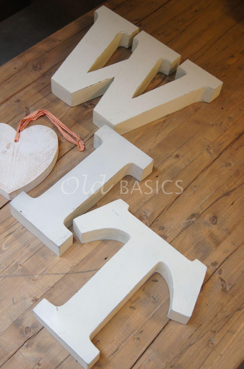 Detail van IJzeren letters, wit, materiaal staal