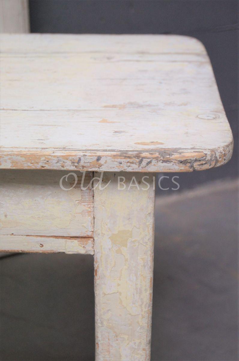 Detail van Bijzettafel, crème, geel, materiaal hout