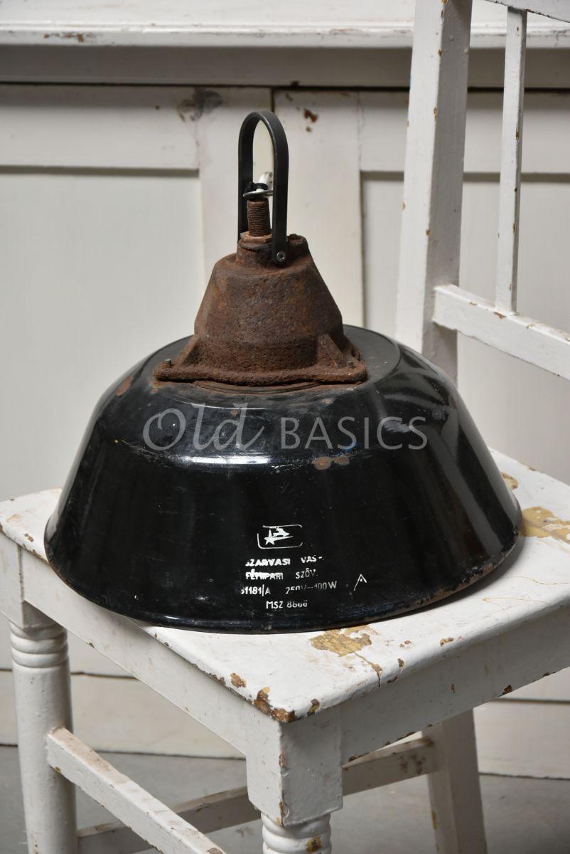 Industrielamp, zwart, materiaal staal