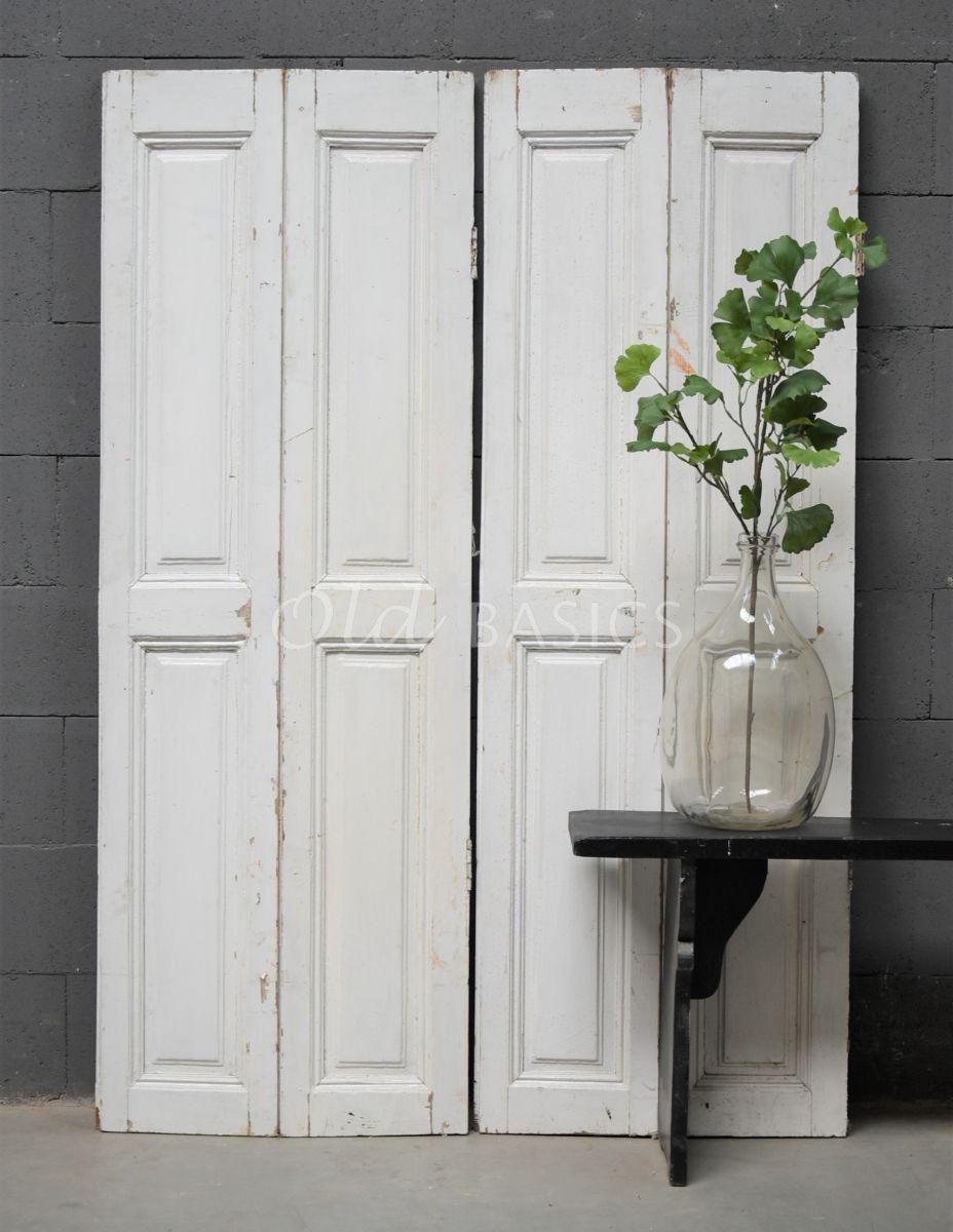 Set luiken, wit, materiaal hout