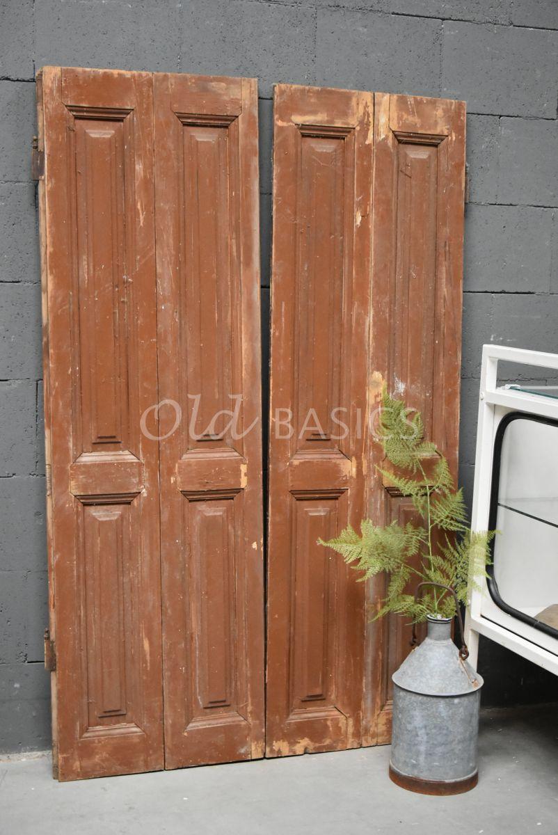 Set luiken, bruin, naturel, materiaal hout