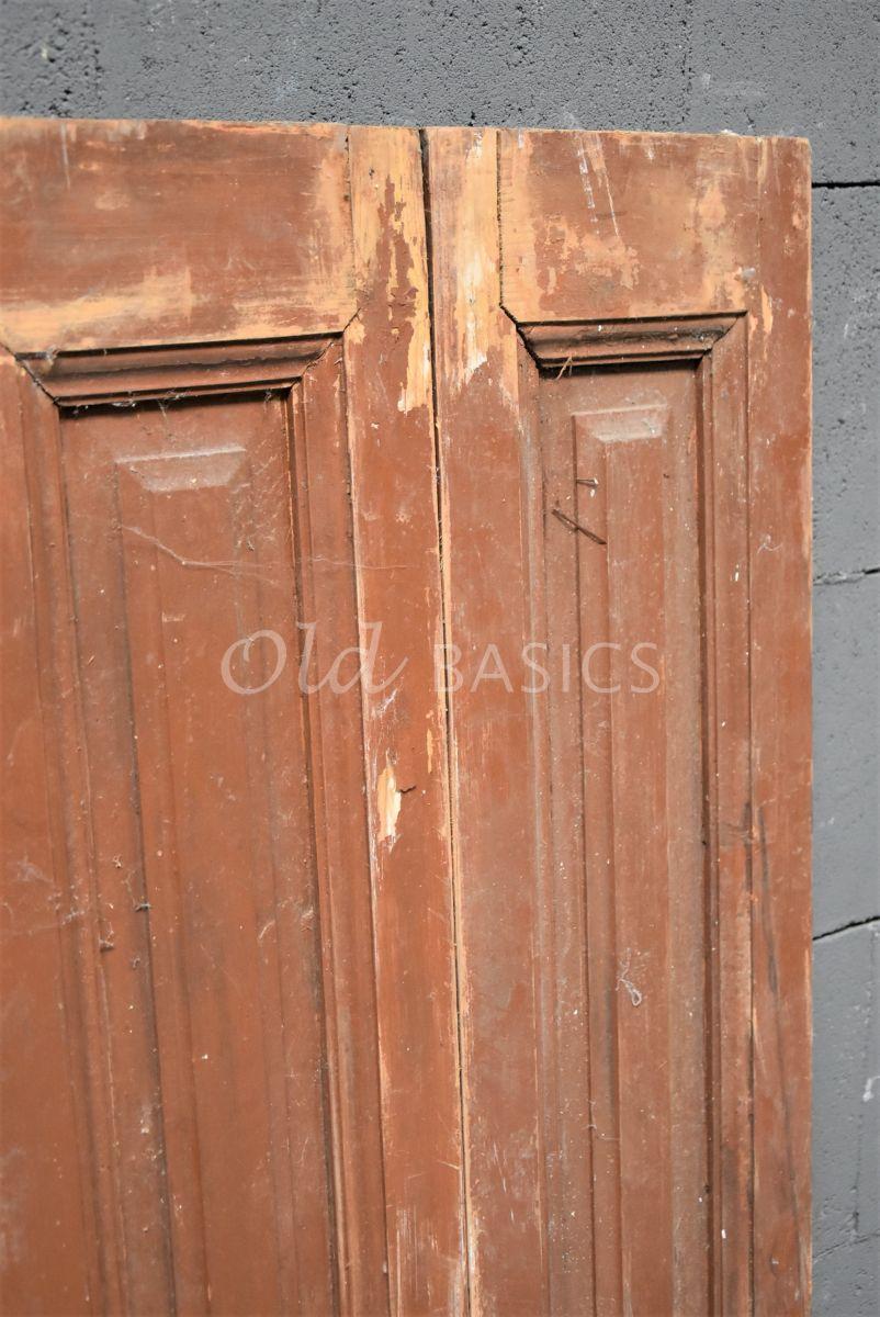 Detail van Set luiken, bruin, naturel, materiaal hout