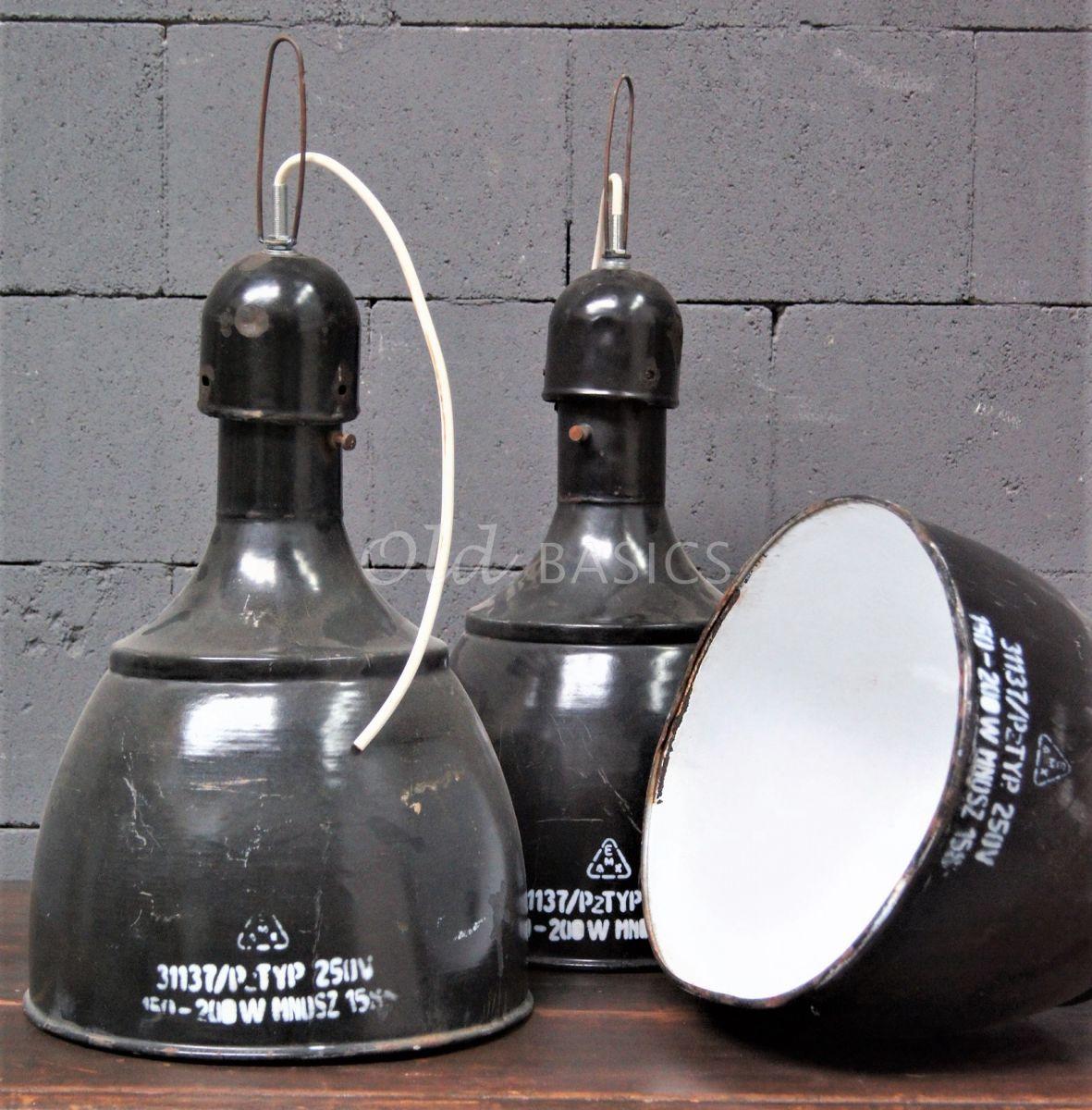 Industrielamp, zwart, grijs, materiaal staal