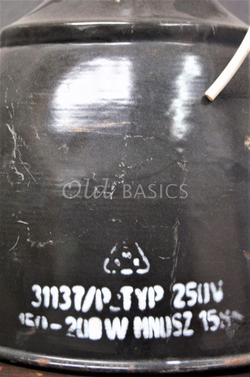 Detail van Industrielamp, zwart, grijs, materiaal staal
