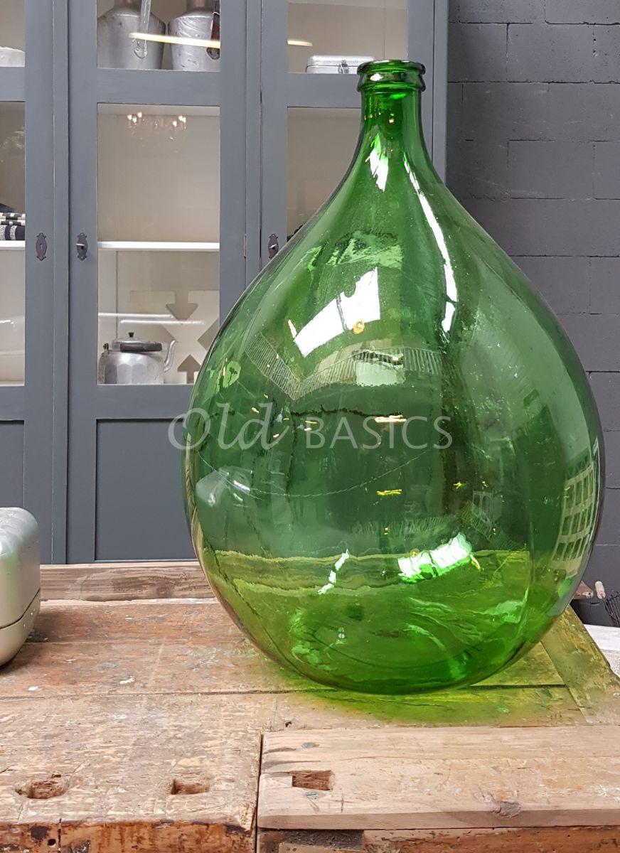 Vaas, groen, materiaal glas