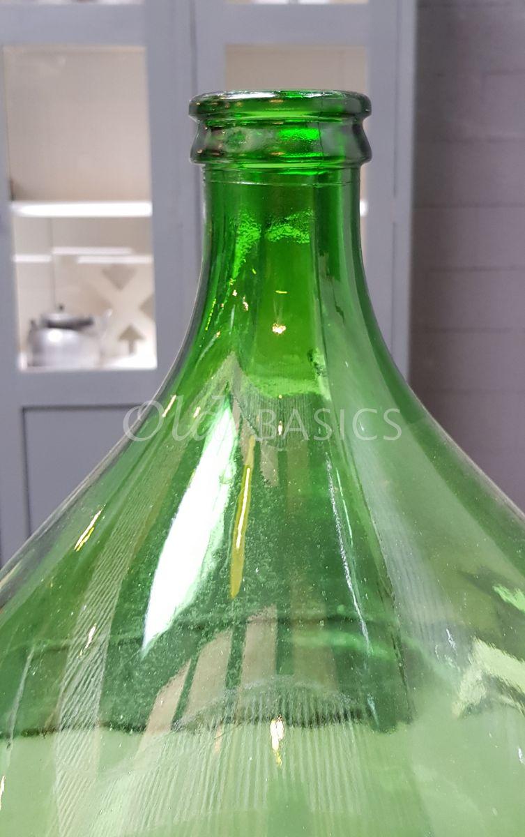 Detail van Vaas, groen, materiaal glas