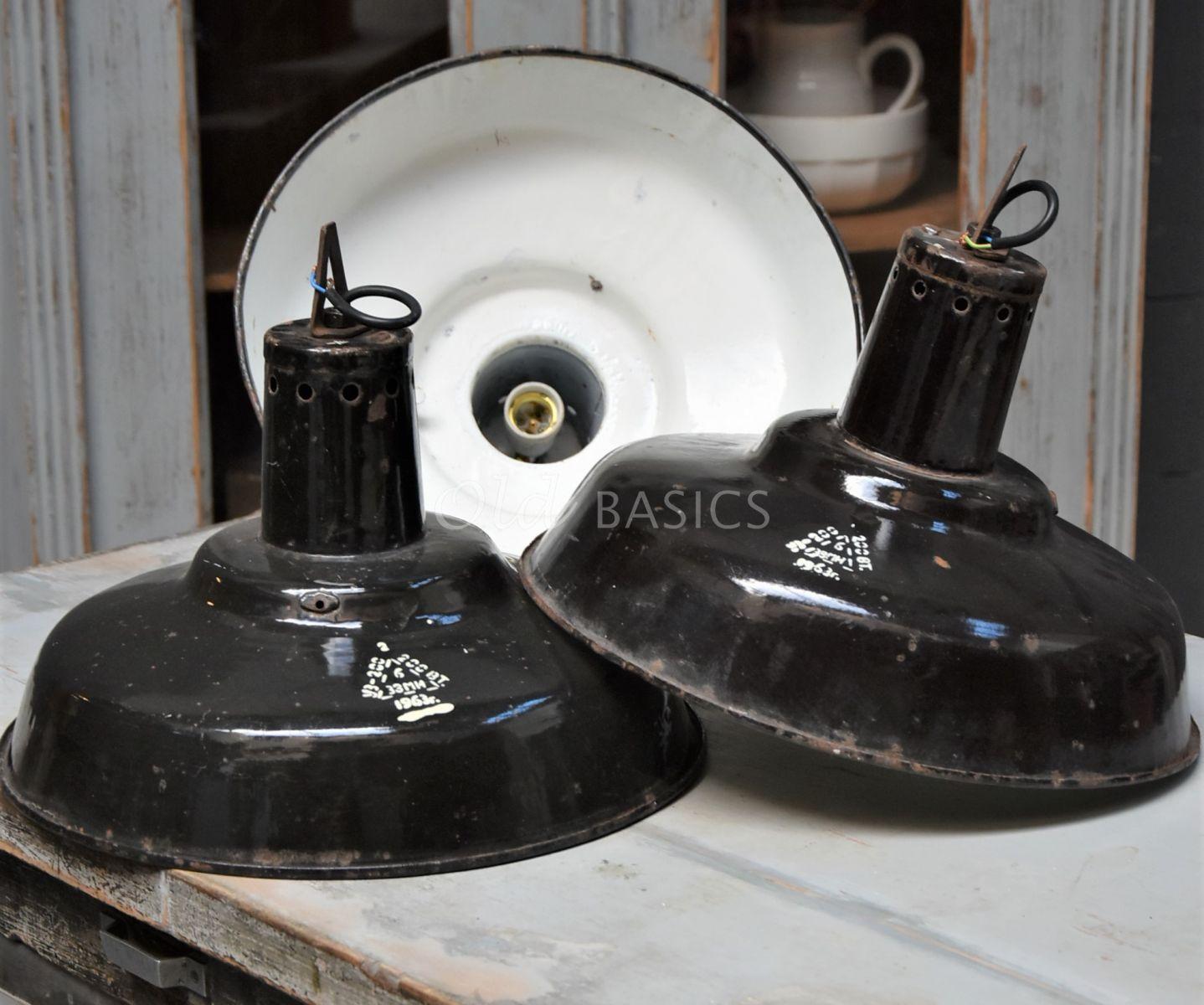 Industrielamp, zwart, materiaal hout