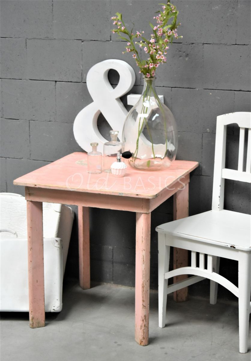 Bijzettafel, roze, materiaal hout