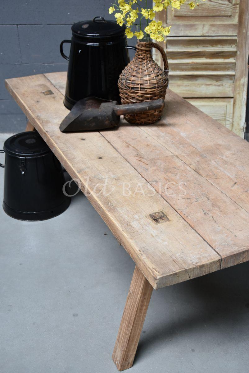 Detail van Salontafel, naturel, materiaal hout
