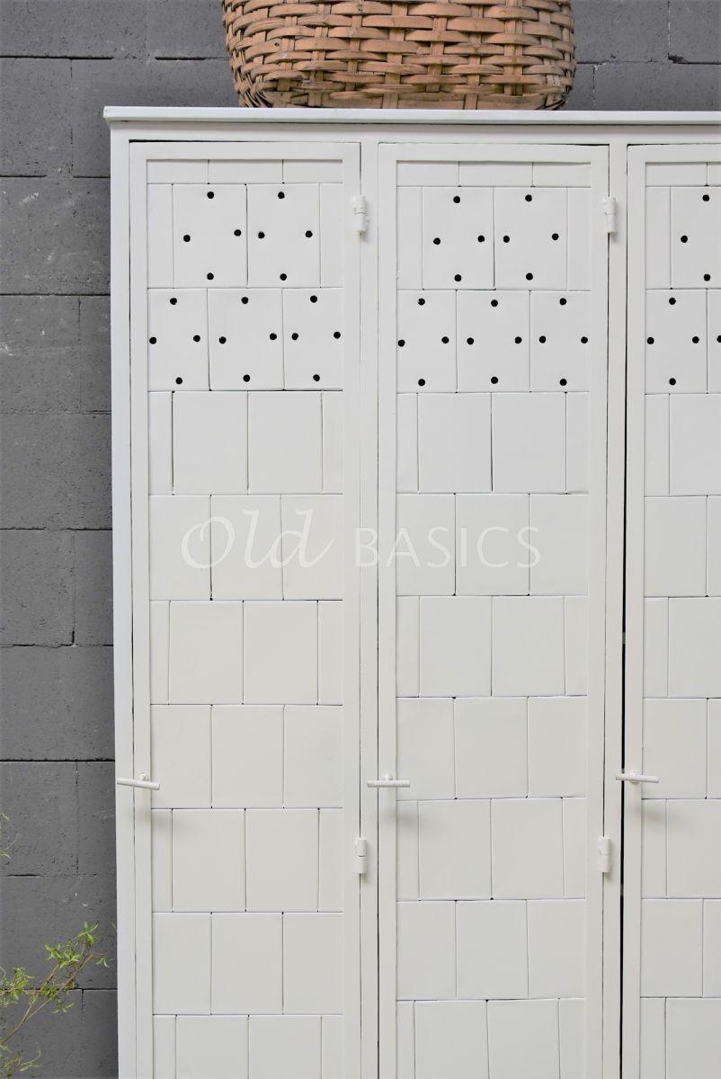 Detail van Lockerkast Cubiquewit, wit, materiaal staal