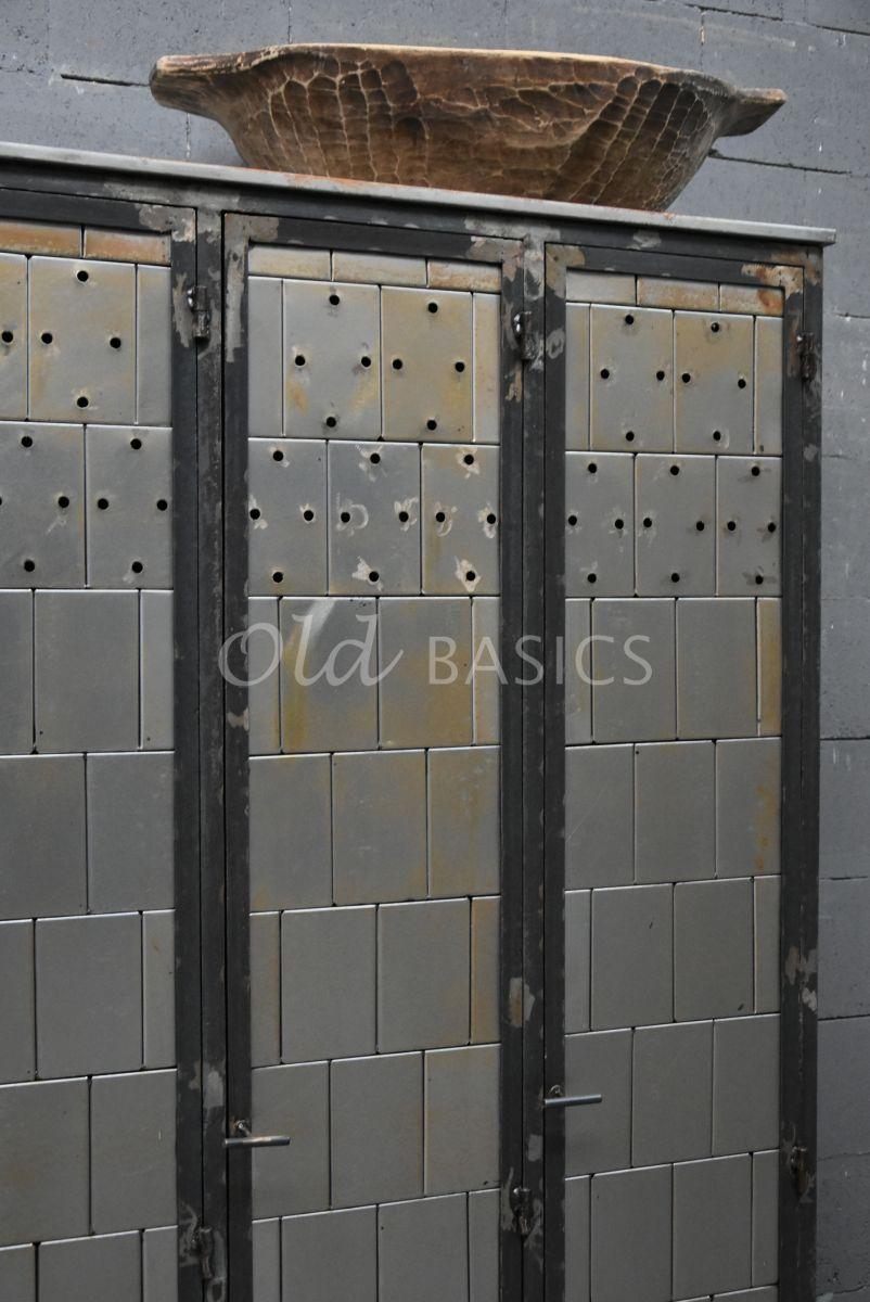 Detail van Lockerkast Cubique, metaal, materiaal staal