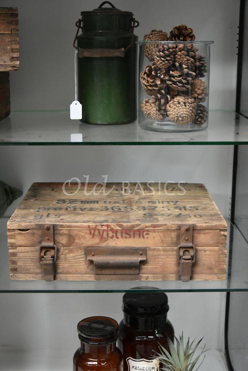 Detail van Kist, naturel, materiaal hout