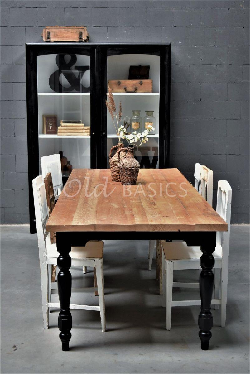 Eettafel Rustique, zwart, materiaal hout