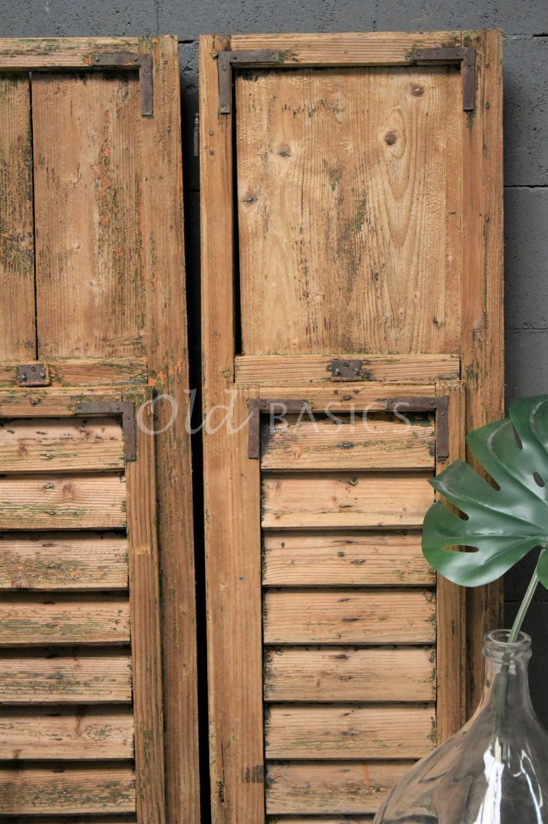 Detail van Set luiken, naturel, materiaal hout