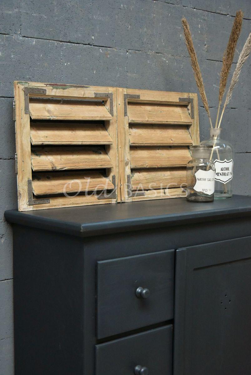 Set luiken, naturel, materiaal hout