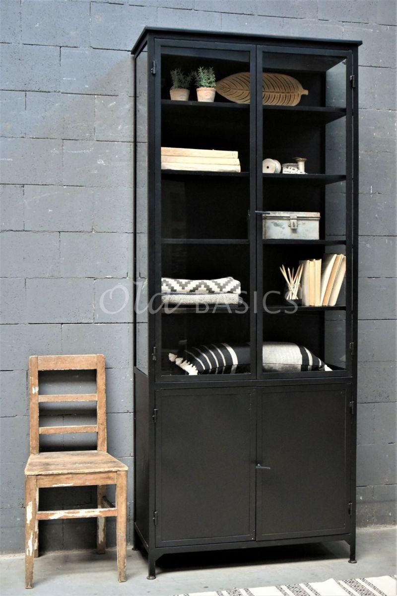 Apothekerskast Ivar Noir Grand, zwart, materiaal staal