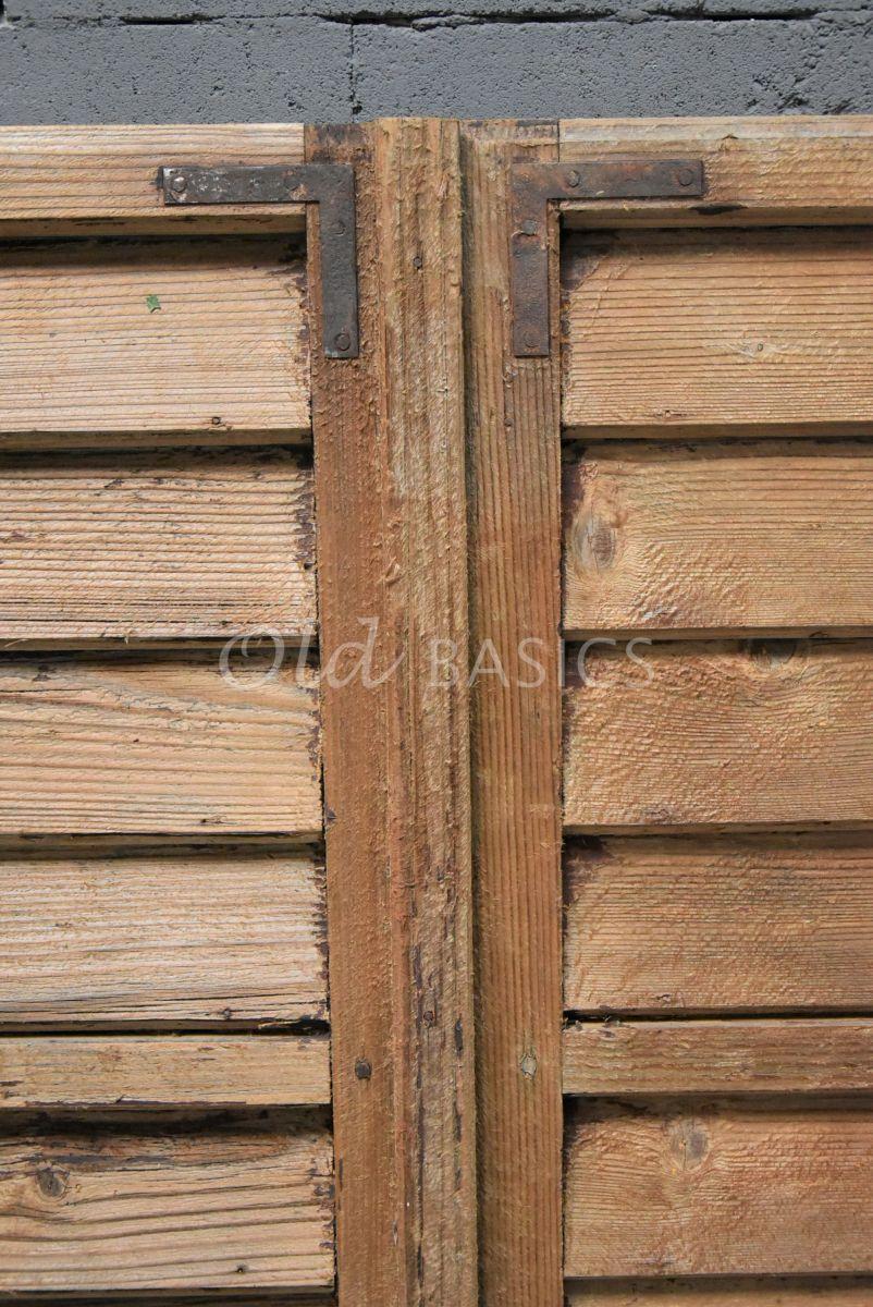 Detail van Set luiken, naturel, materiaal hout