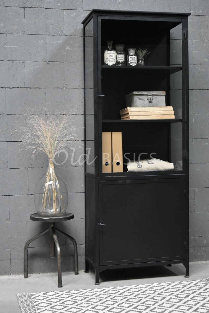 Apothekerskast Irvin Noir, zwart, materiaal staal
