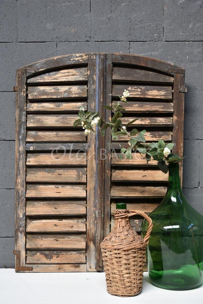 Set luiken, blauw, naturel, materiaal hout