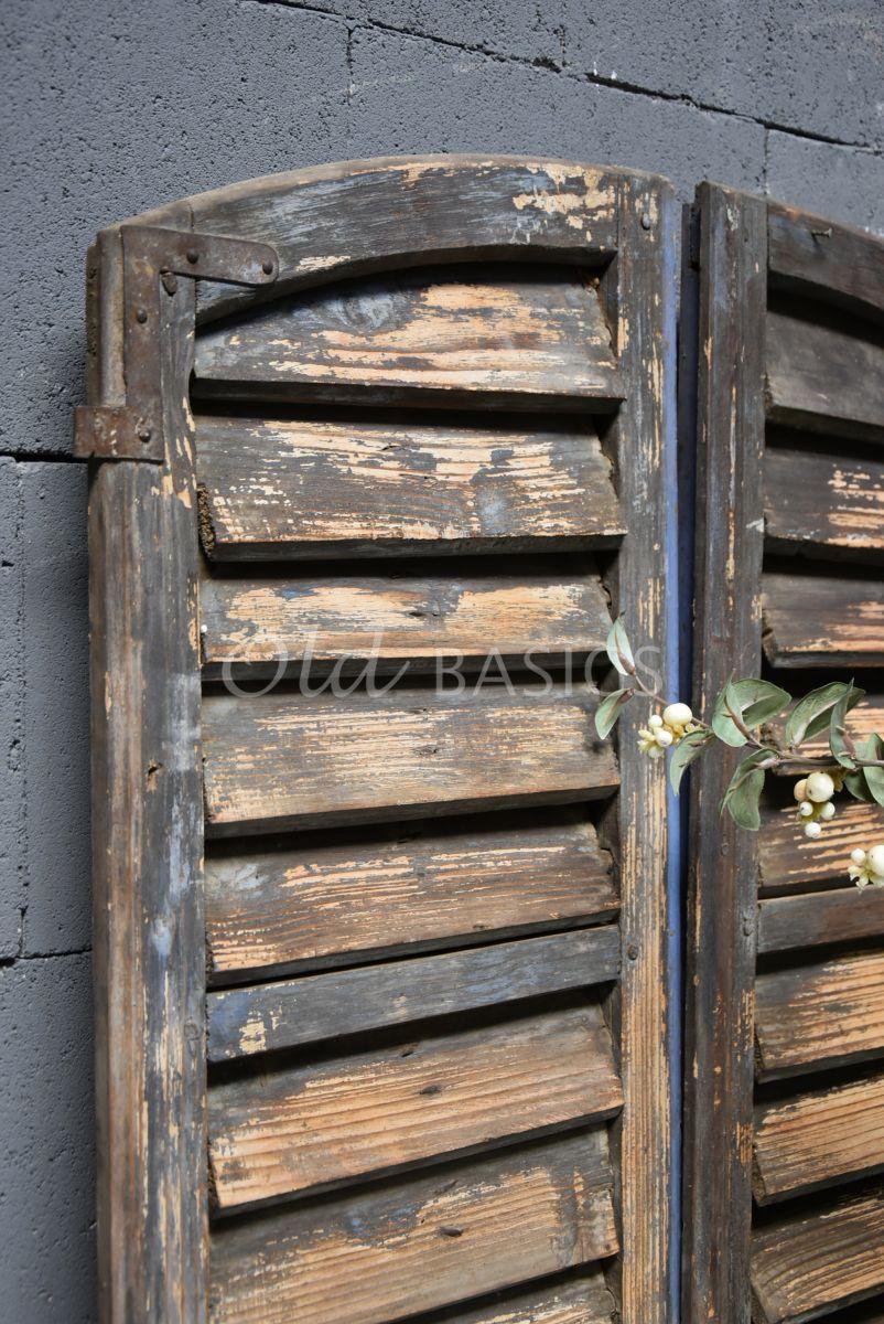 Detail van Set luiken, blauw, naturel, materiaal hout