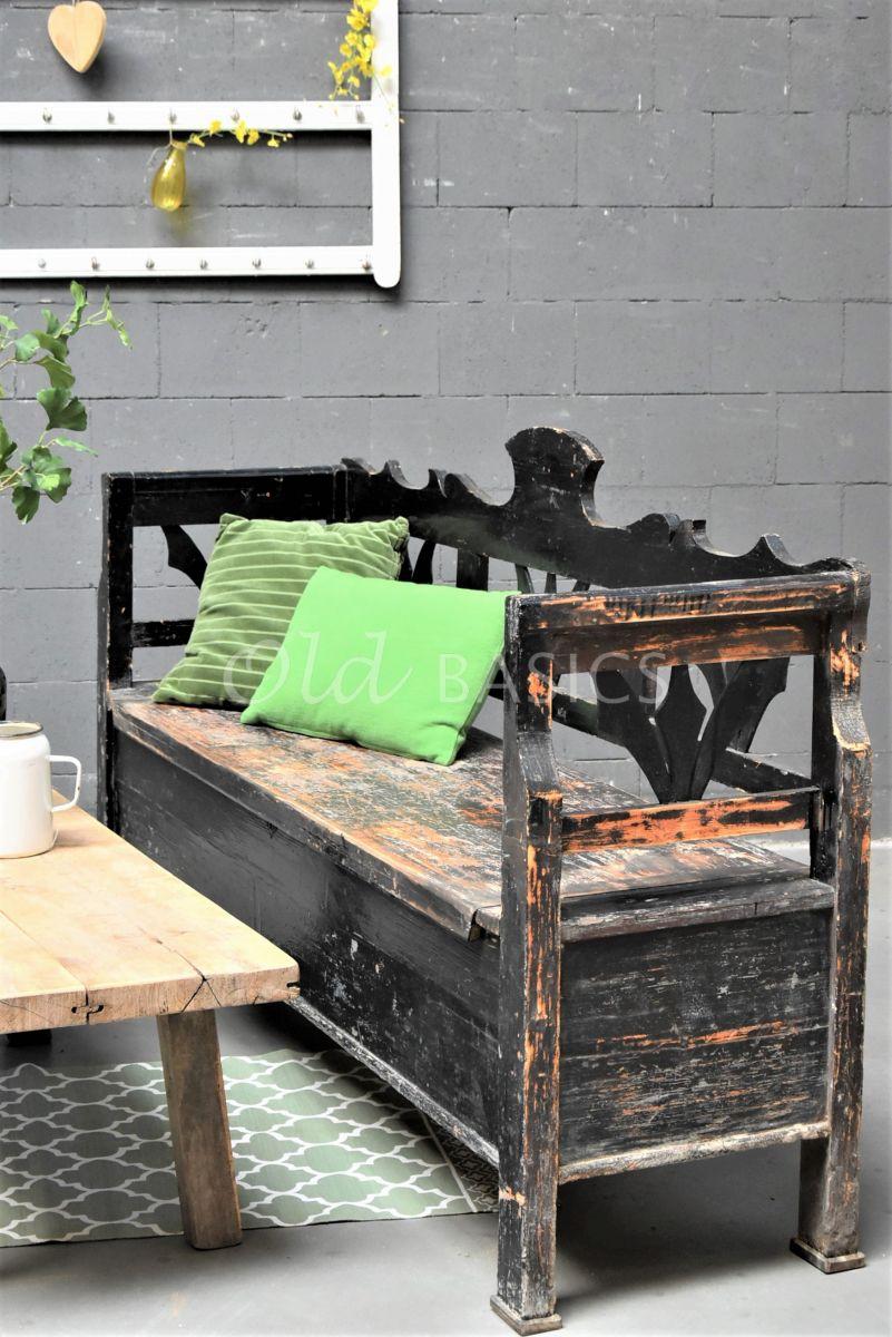Klepbank, zwart, materiaal hout