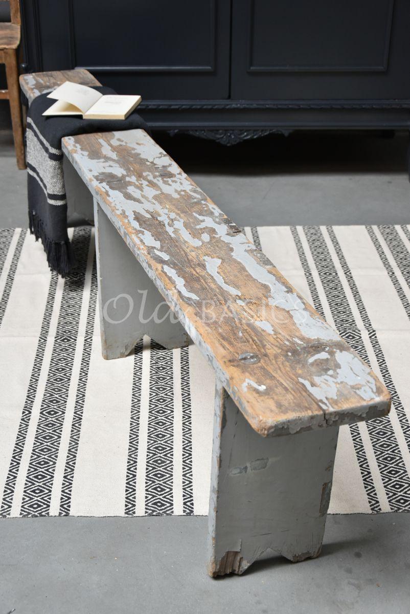 Houten bank, naturel, grijs, materiaal hout