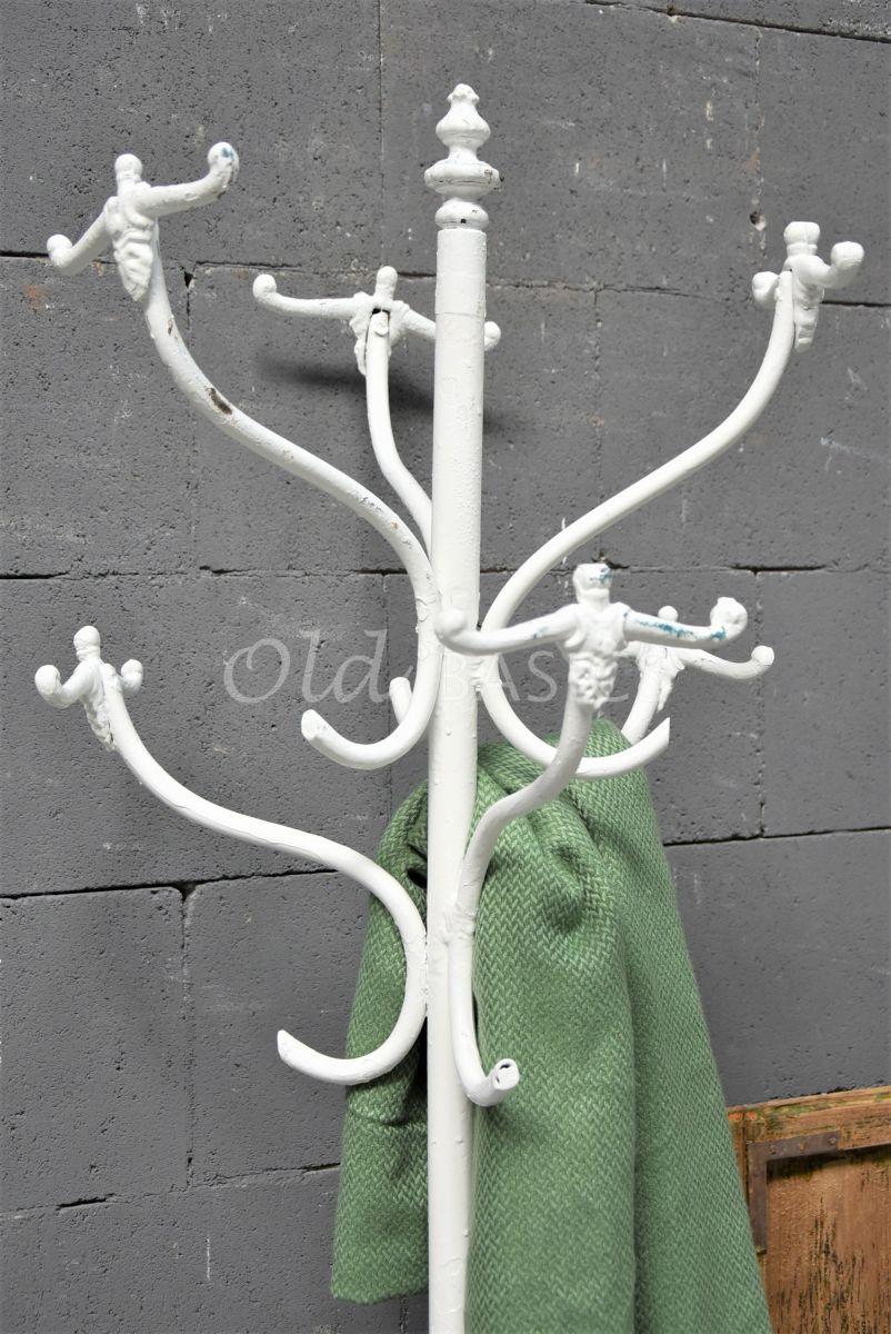 Detail van Kapstok, wit, materiaal staal