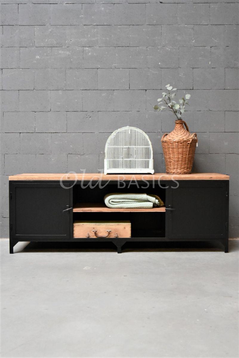 TVmeubel Demi, RAL2, zwart, materiaal staal