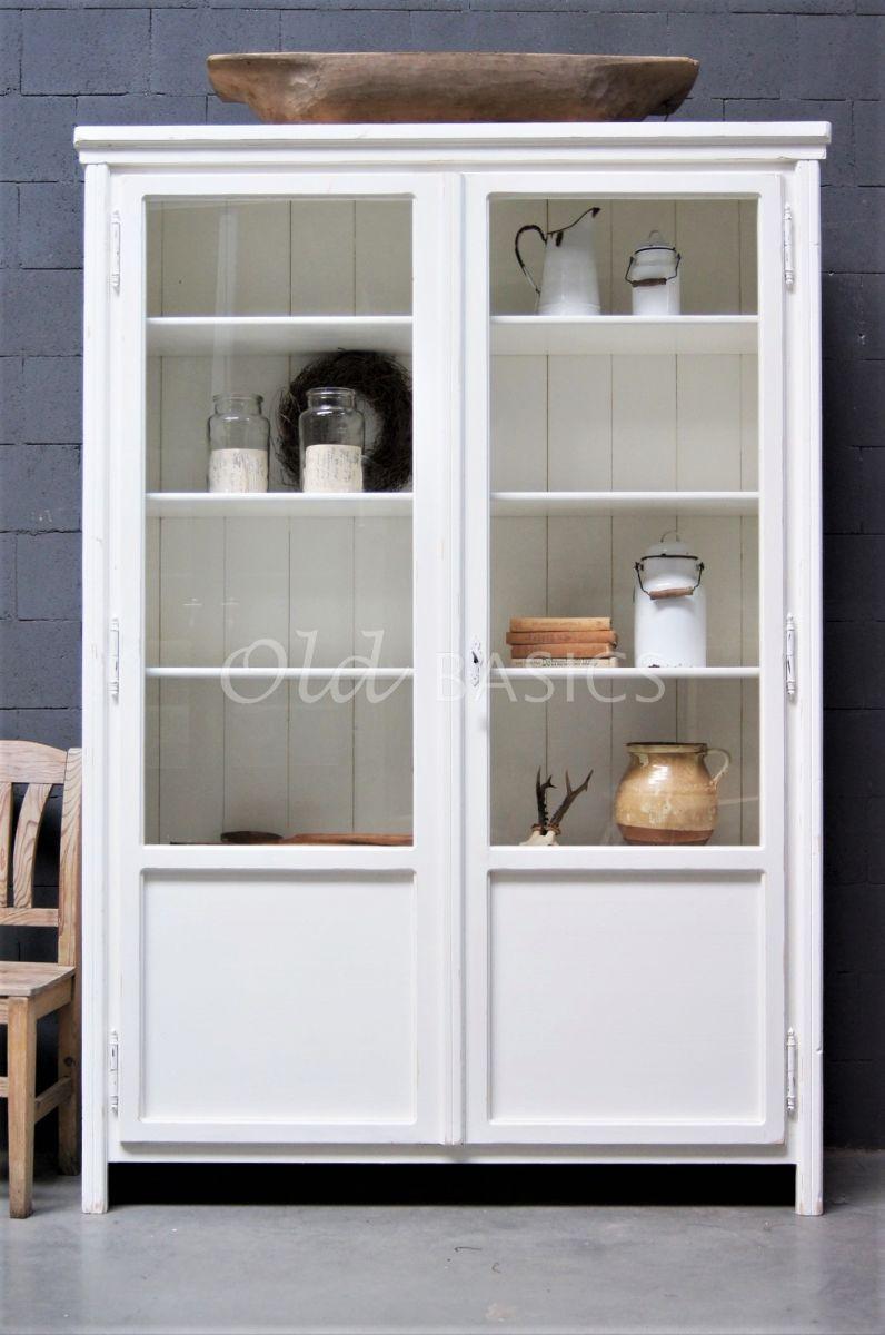 Detail van Vitrinekast Artistique, 2 deuren, RAL9010, wit, materiaal hout