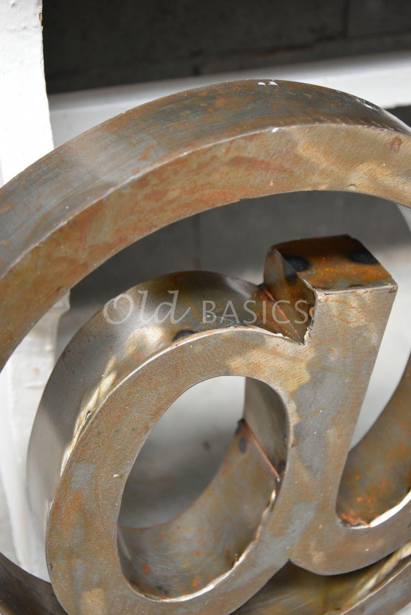 Detail van @teken klein roest, roest, materiaal staal