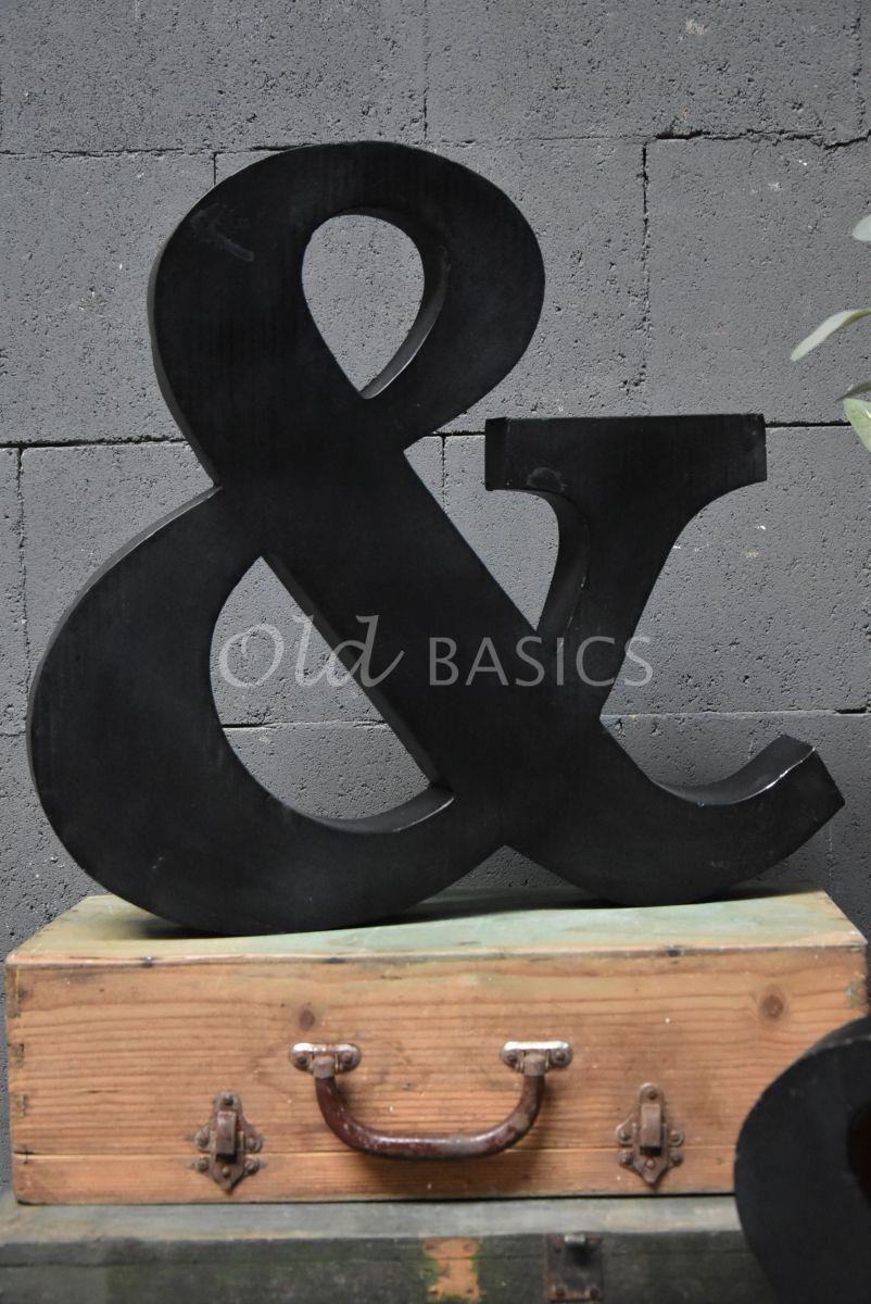 Detail van &teken groot zwart, zwart, materiaal staal