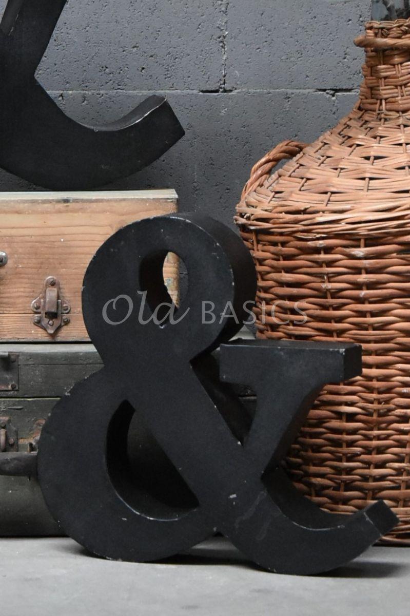 Detail van &teken klein zwart, zwart, materiaal staal