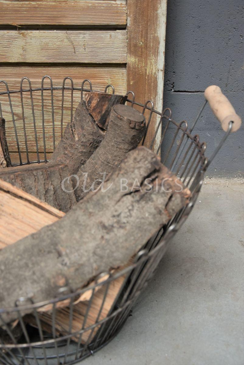 Detail van Draadmand, metaal, materiaal staal
