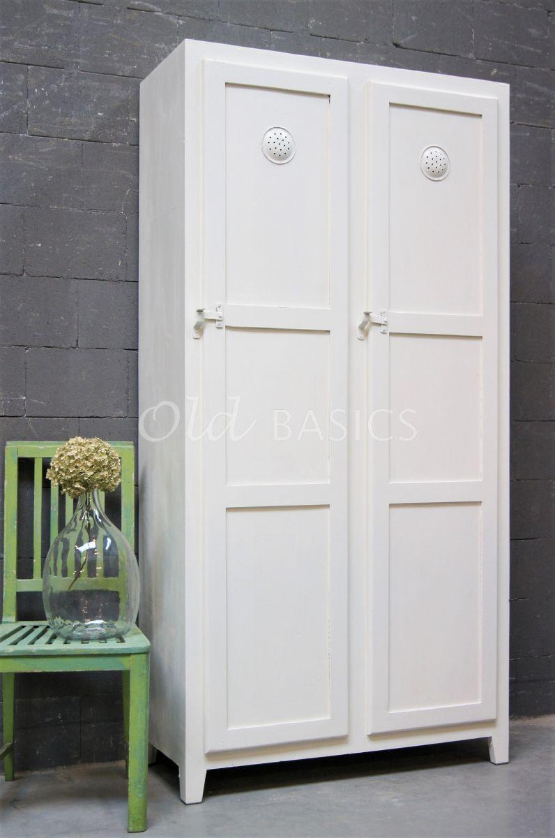 Lockerkast Ives  Wit, wit, materiaal hout
