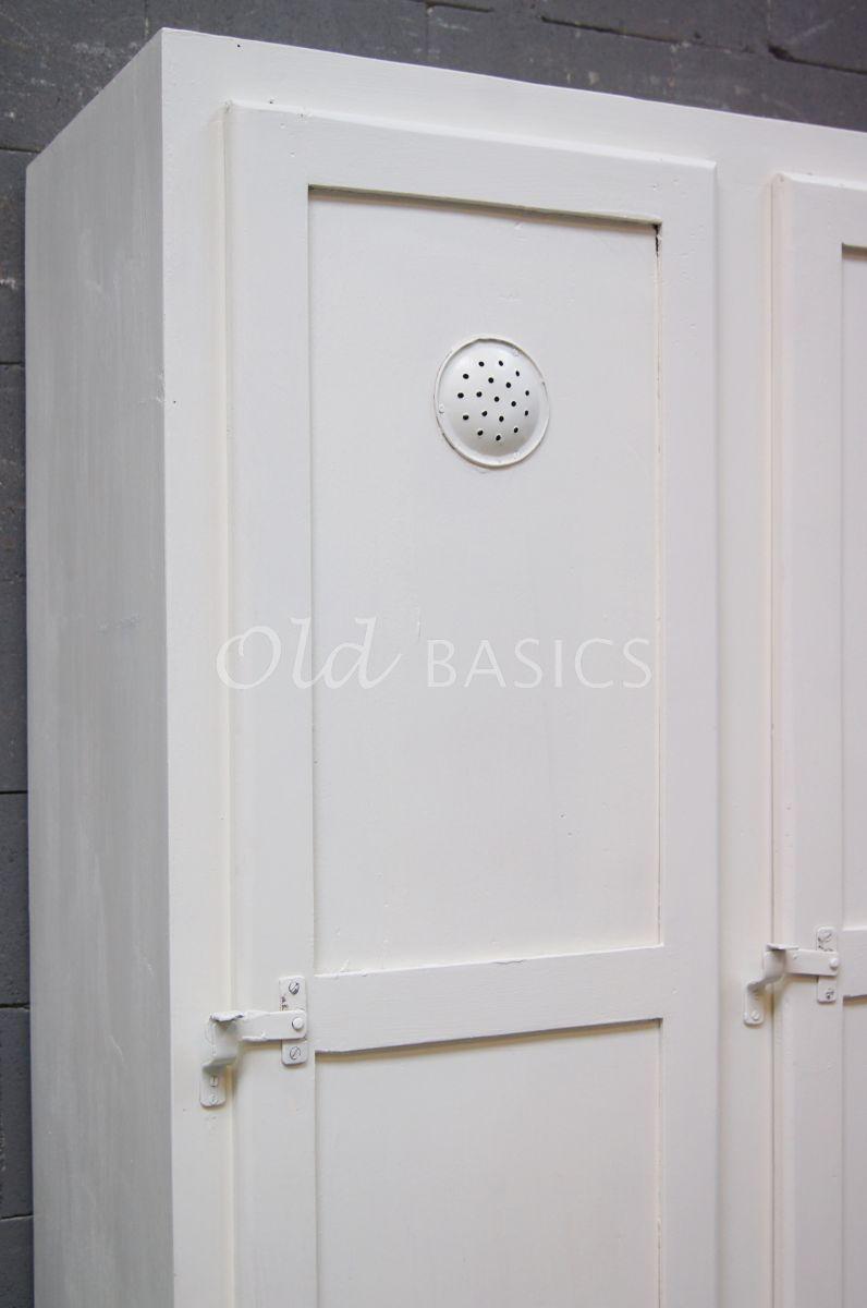 Detail van Lockerkast Ives  Wit, wit, materiaal hout