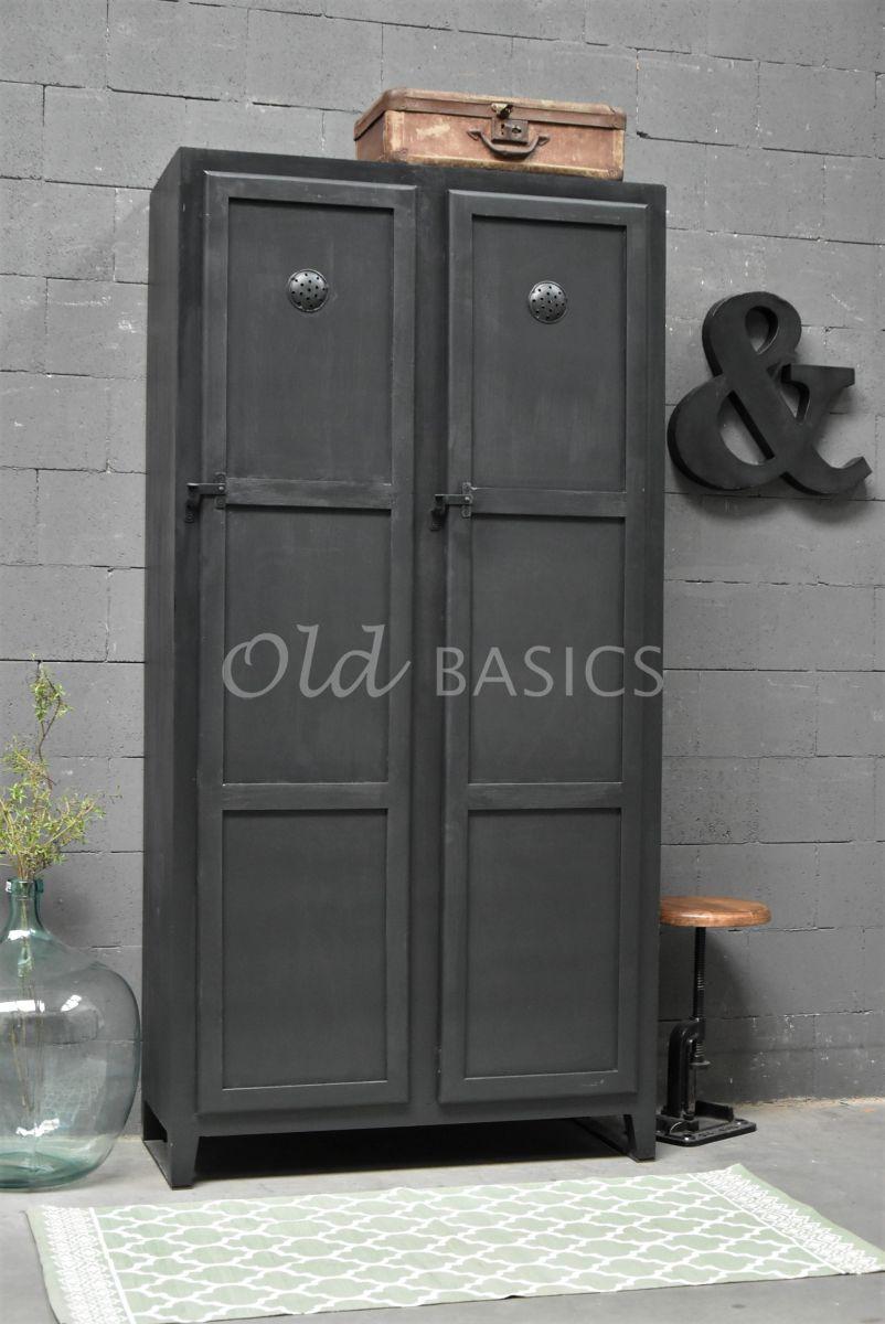 Lockerkast Ives  Zwartgrijs, zwart, grijs, materiaal hout
