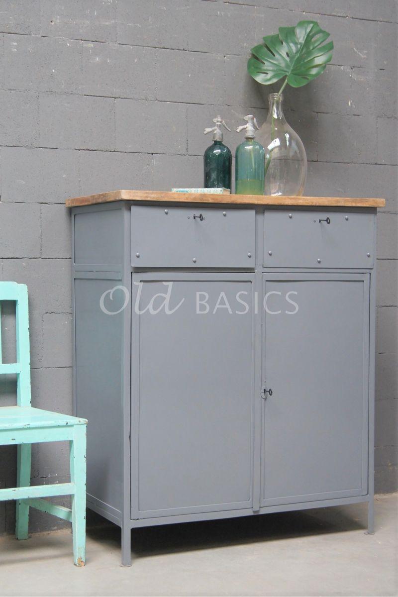 Onderkast, grijs, materiaal staal