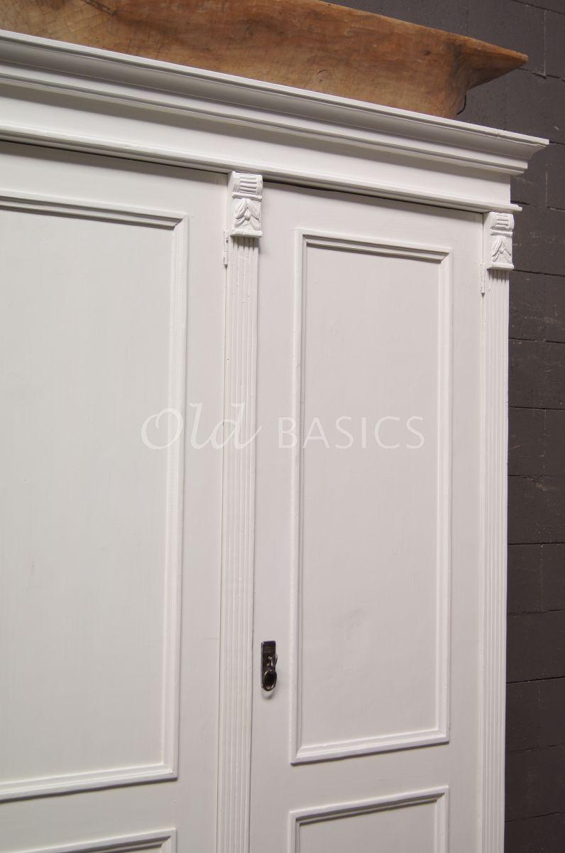 Detail van Linnenkast Lille, wit, materiaal hout
